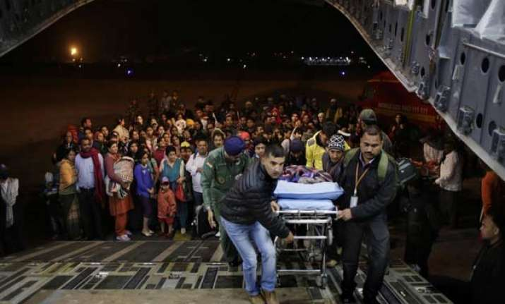 iaf evacuates 3 358 from nepal relief operation on