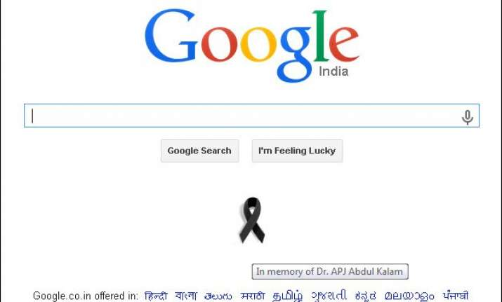 google s black ribbon tribute to apj abdul kalam