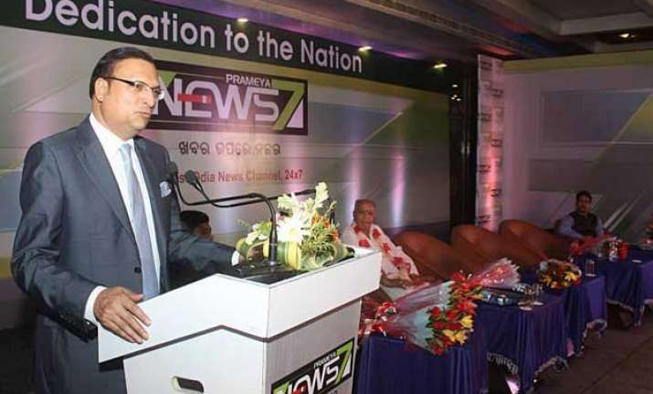 rajat sharma inaugurates new odia news channel prameya news7