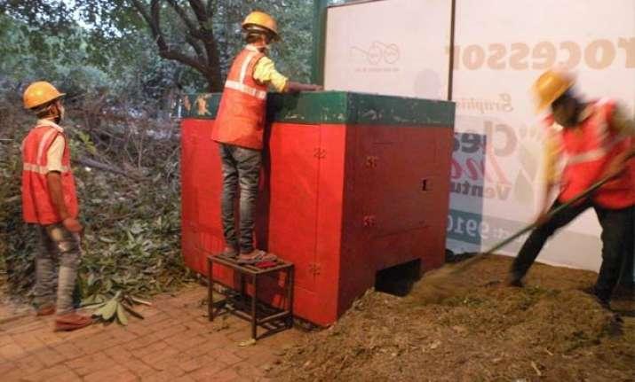 decentralized green waste re processor plant begins