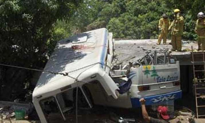 eight pilgrims killed as bus falls into river in maharashtra