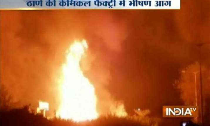 major fire breaks out at a chemical factory in thane