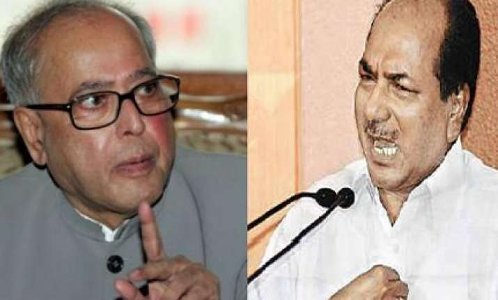 pranab antony meet need time for report on chavan s fate