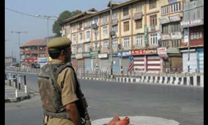 curfew clamped in srinagar