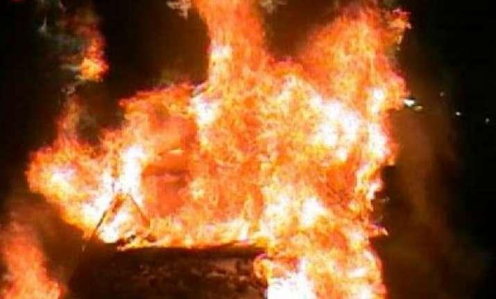 car catches fire near petrol pump in rohini sector 16
