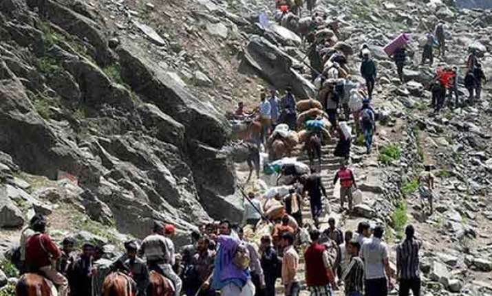 amarnath yatra third batch begins journey