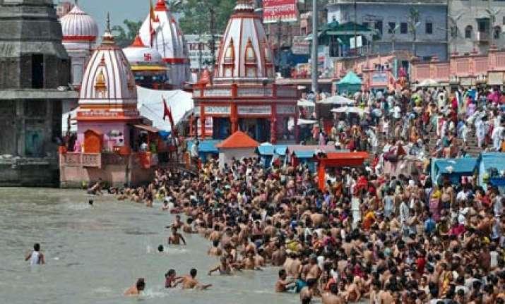 over 15 lakh sadhus pilgrims take bath on third royal bath