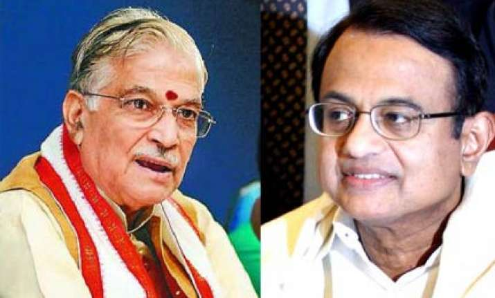 bjp leaders slam chidambaram for saffron terrorism remark