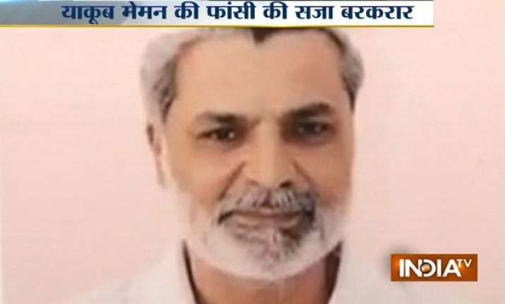 yakub memon to be hanged tomorrow president rejects mercy