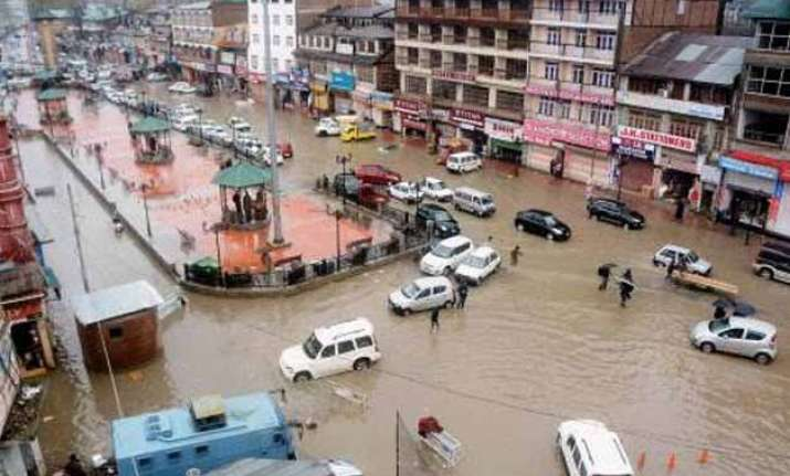 floods declared in j k 8 people killed in house collapse 16