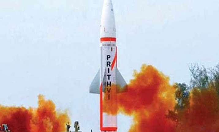 indigenously developed prithvi ii missile test fired