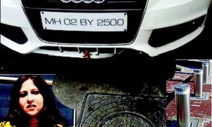 clumsy hotel guards damage juhu lady s audi car