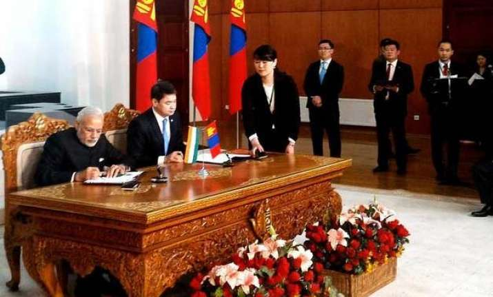 list of agreements signed between india mongolia
