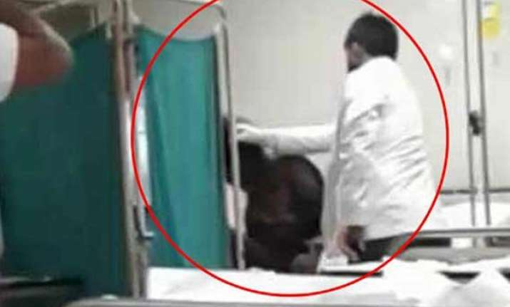 lucknow doctor beats up unconscious patient suspended