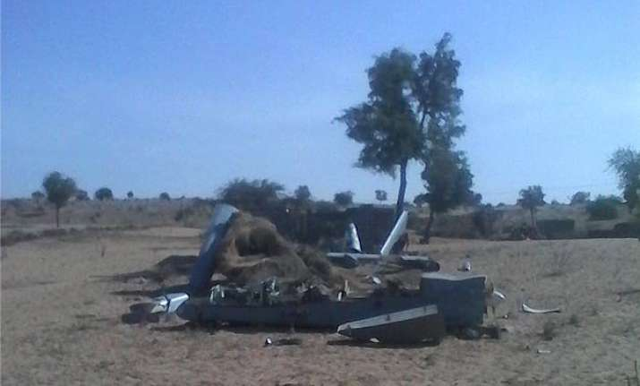 indian air force s uav crashes in barmer