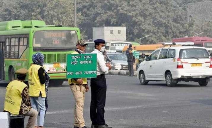 odd even has reduced pm 2.5 levels in city delhi govt