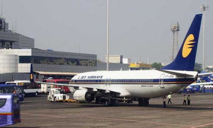 bomb threat on jet airways flight passengers evacuated
