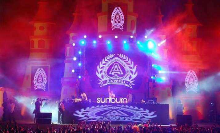 sunburn festival being marketed as a major goa atttraction