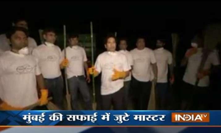 tendulkar accepts pm modi s swachh bharat abhiyan challenge