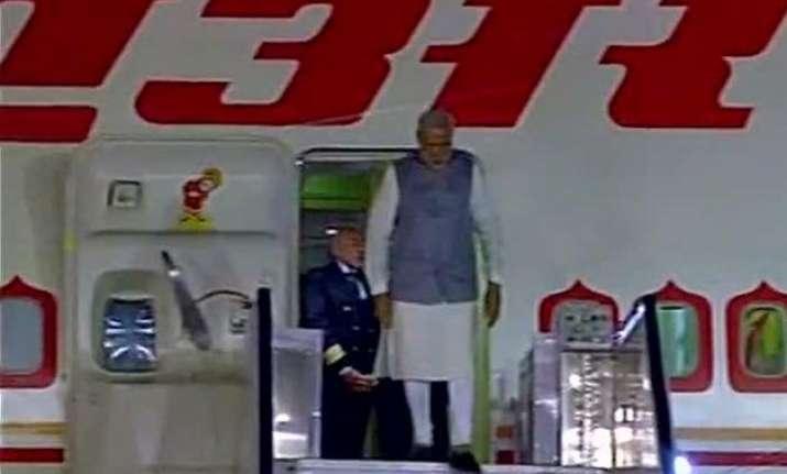 pm narendra modi returns home after three nation tour