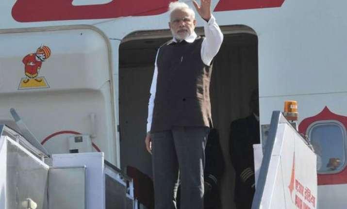 modi leaves on three nation tour