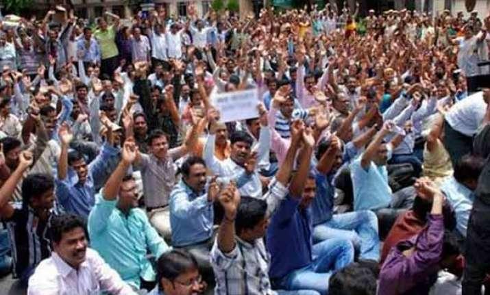 35 held for protest over teacher s recruitment exam