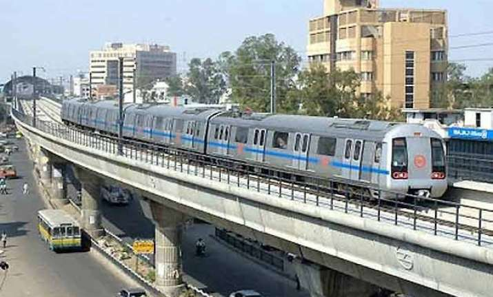 delhi to now get a flying metro station