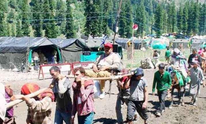 fresh batch of 123 pilgrims leaves for amarnath