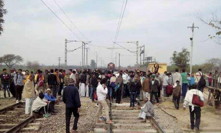 jats continue stir in haryana road rail traffic disrupted