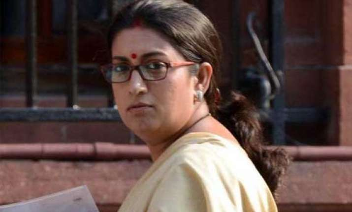 smriti irani launches girl child social awareness programme