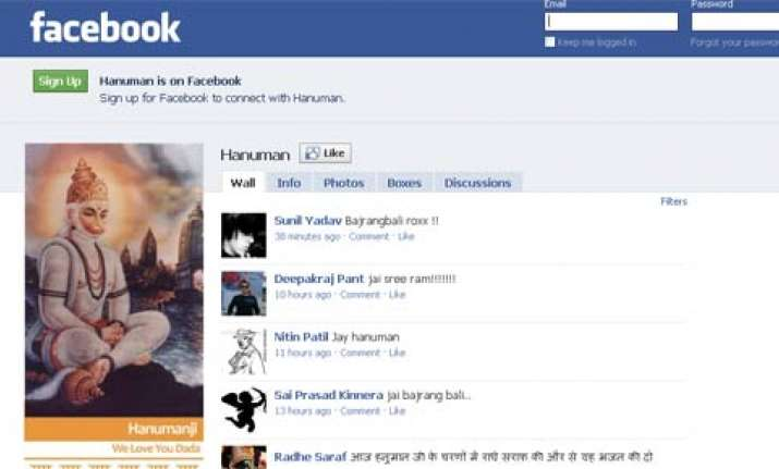 hanuman on facebook wall