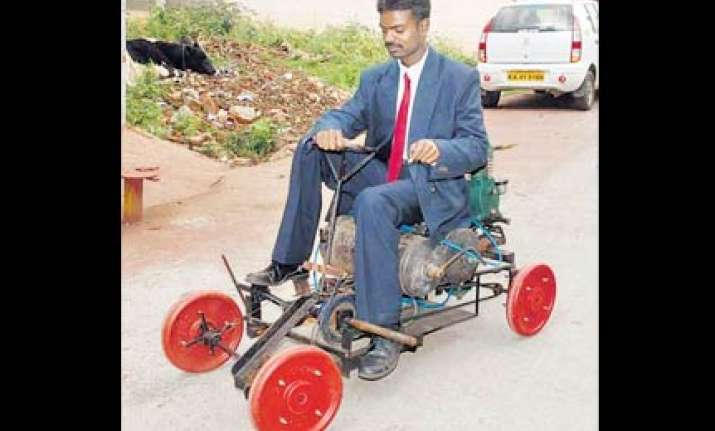 bangalore youth develops air powered vehicle