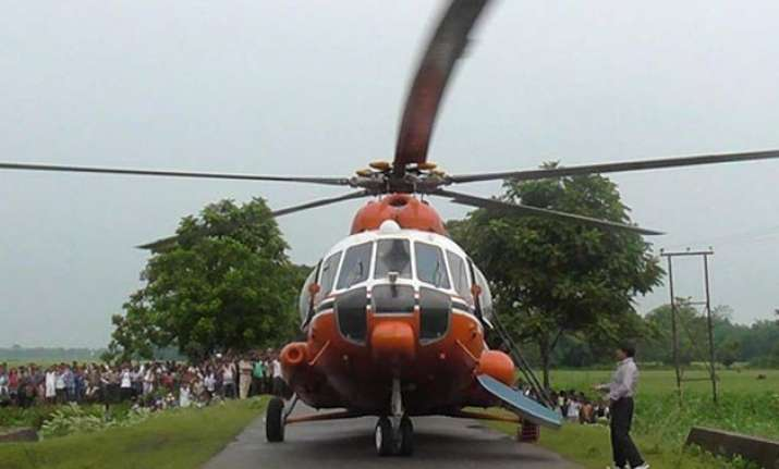 chopper with 19 makes emergency landing on road in arunachal