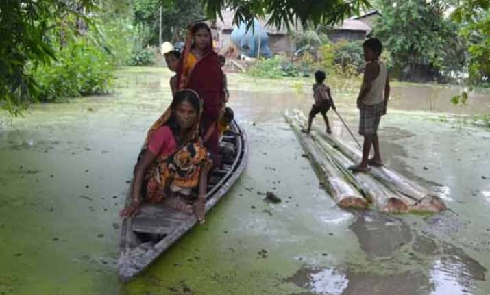 over 6 lakh marooned in assam floods toll now 7