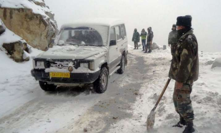 army deployed in sikkim s changu to rescue stranded tourists