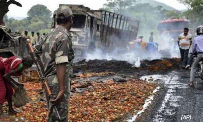 15 maoists possibly killed in crpf retaliatory fire
