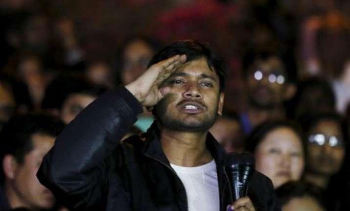 kanhaiya vows azadi for umar anirban says will lead movement