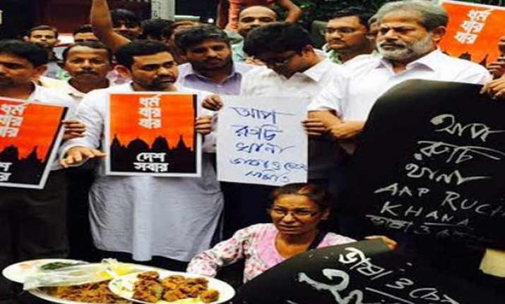 beef party on kolkata street to protest rising intolerance
