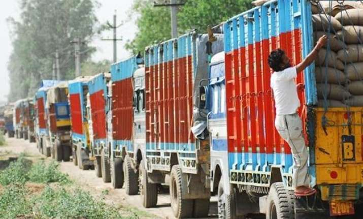 truckers proceed on a nationwide strike against toll system