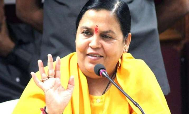 uma bharti to spend 3 4 days a week on banks of ganga