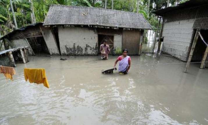 nearly 4 lakh still hit flood crisis remains grim assam