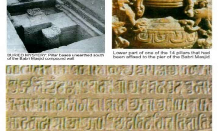 remnants of temple found beneath babri mosque muslim