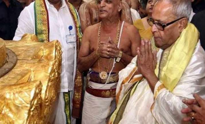 president to visit lord venkateswara temple today