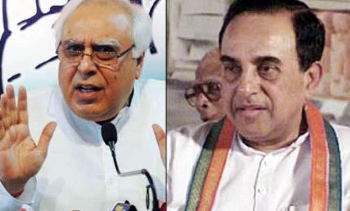 subramaniam swamy considers himself the cbi says kapil sibal