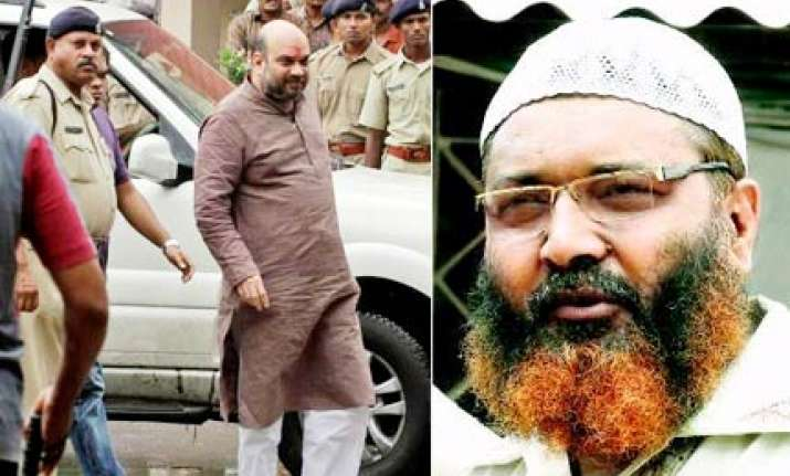 amit shah faces threat from gangster wahab in jail