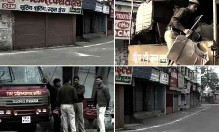lull in bareilly violence bjp leaders disallowed from