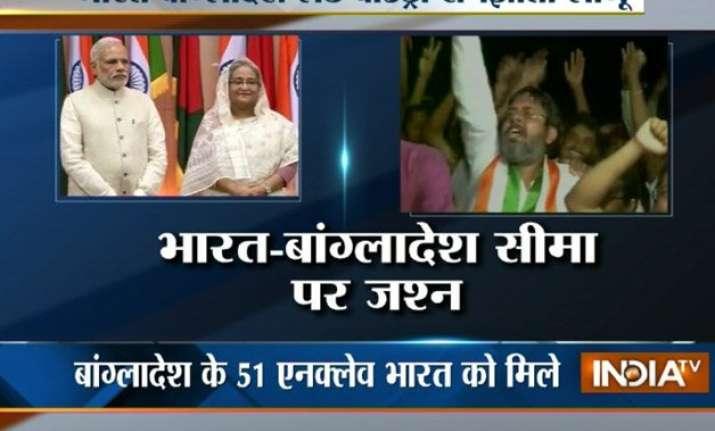 india bangladesh make history exchange enclaves at midnight