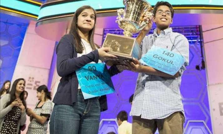 indian american kids sweep spelling bee contest