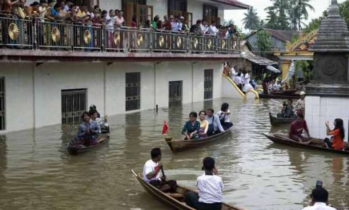 india airlifts food medicines to flood hit myanmar
