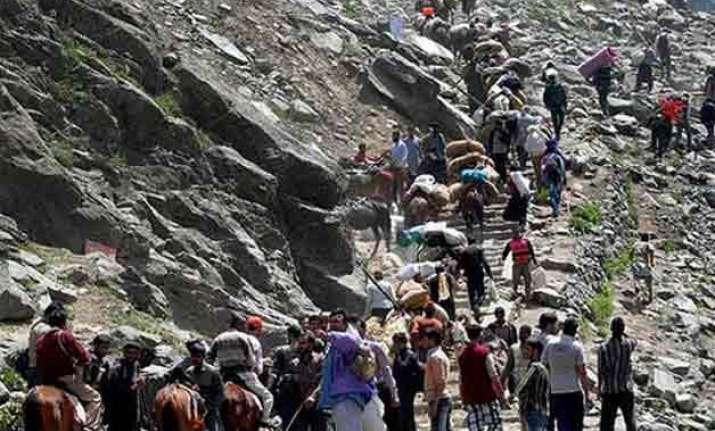 fresh batch of 418 pilgrims leave jammu for amarnath
